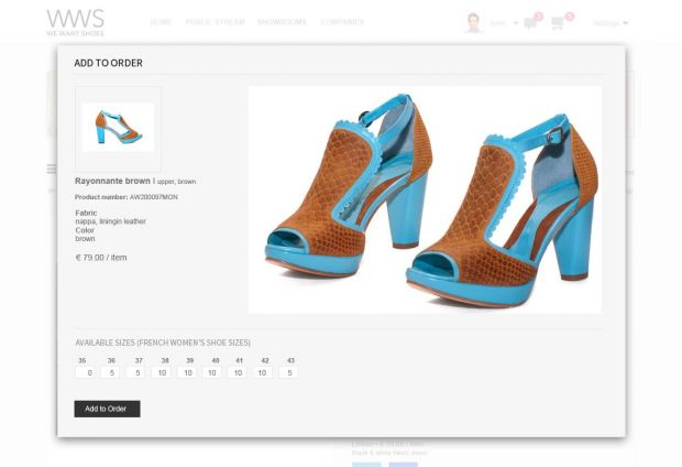 We Want Shoes offers virtual showrooms for shoes and accessorie brands