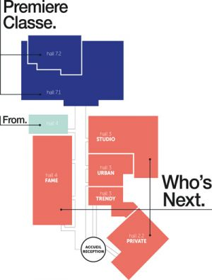 Who's Next and Premiere Classe range layout