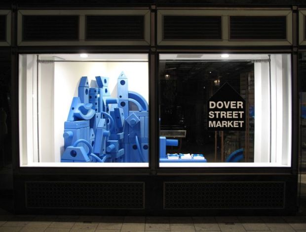 Window display at Dover Street Market in London