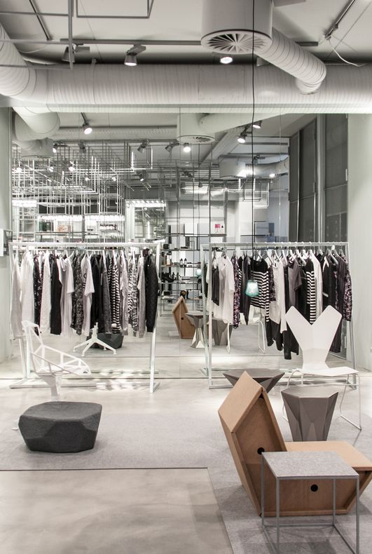 Women's selection inside Minimum's new Aarhus store
