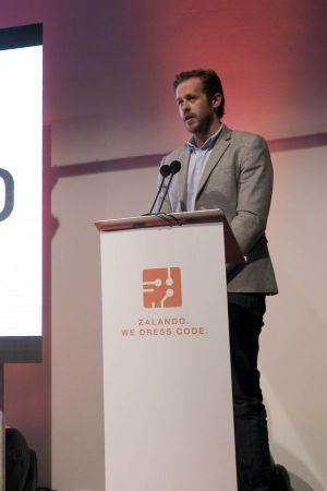 Zalando's founder and board member Robert Gentz at the opening ceremony