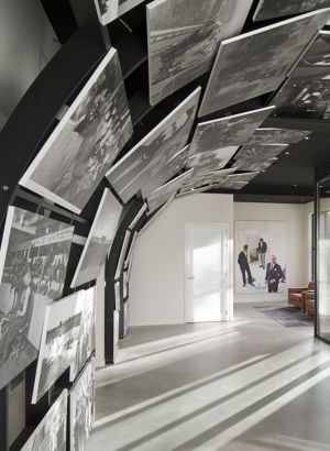 new Van Bommel HQ with historic black-and-white photographs