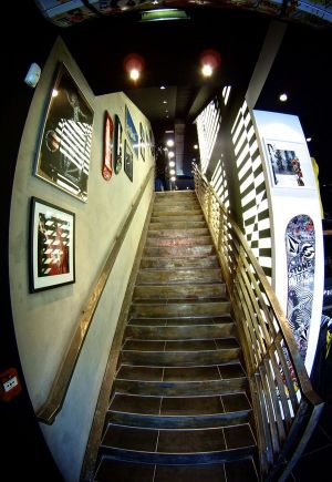 new Volcom store in Chamonix, France