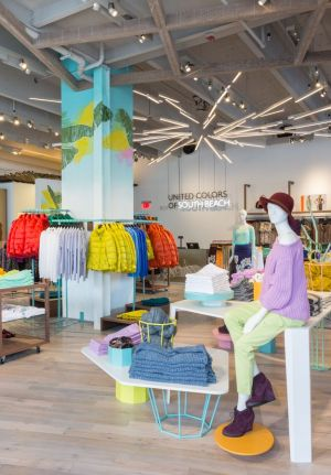 re-opened Benetton store in Miami