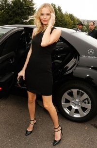 visited Mercedes Benz Fashion Week Berlin in July 2012: Hollywood star Kate Bosworth