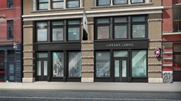 Digital view of the Canada Goose store in New York City.