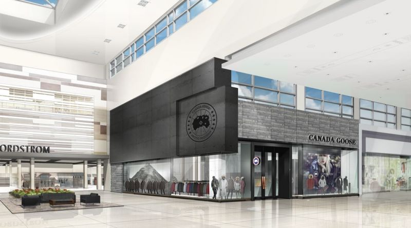 Digital view of the Canada Goose store in Toronto.