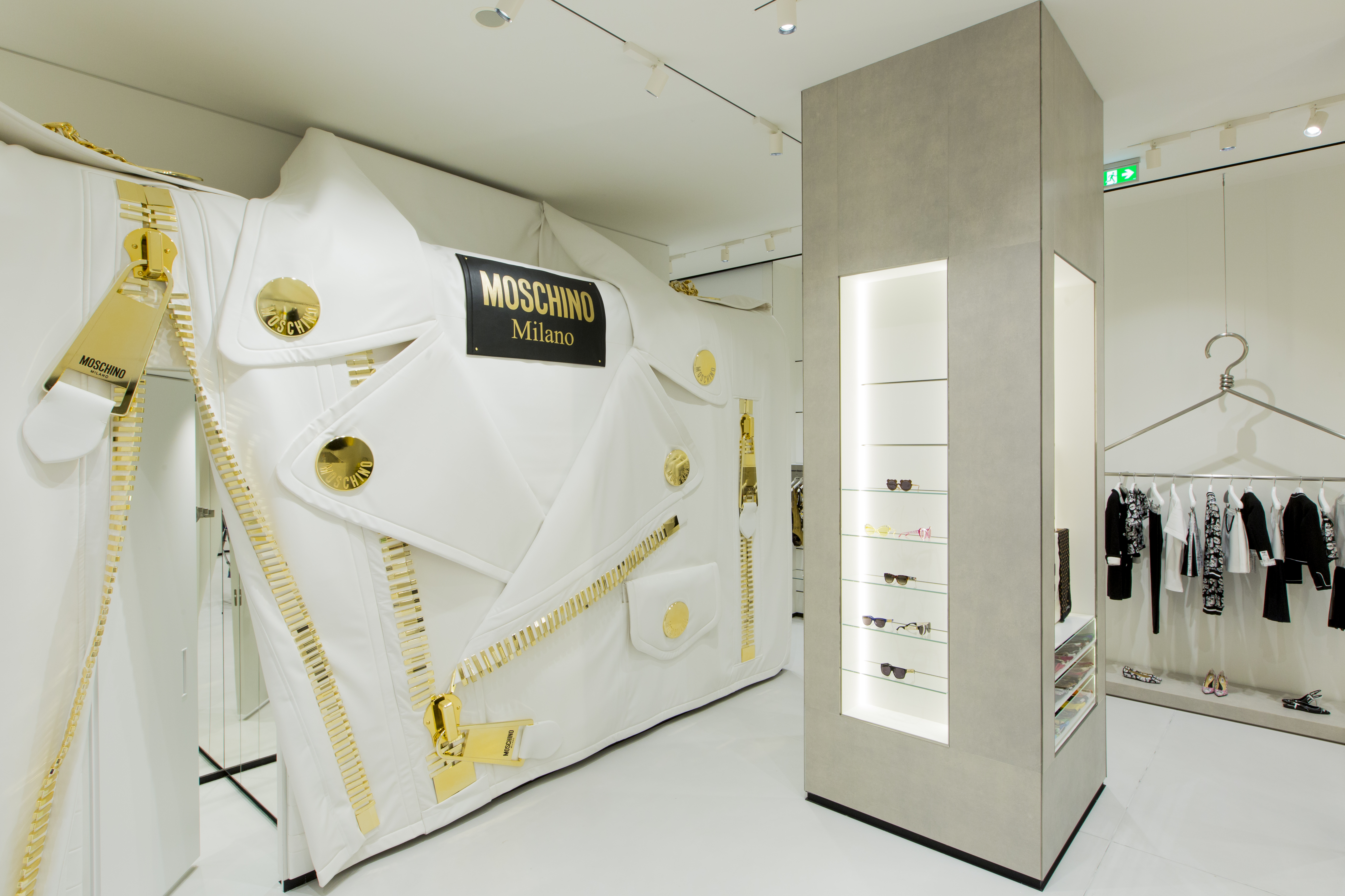 Moschino's new flagship store in Milan.