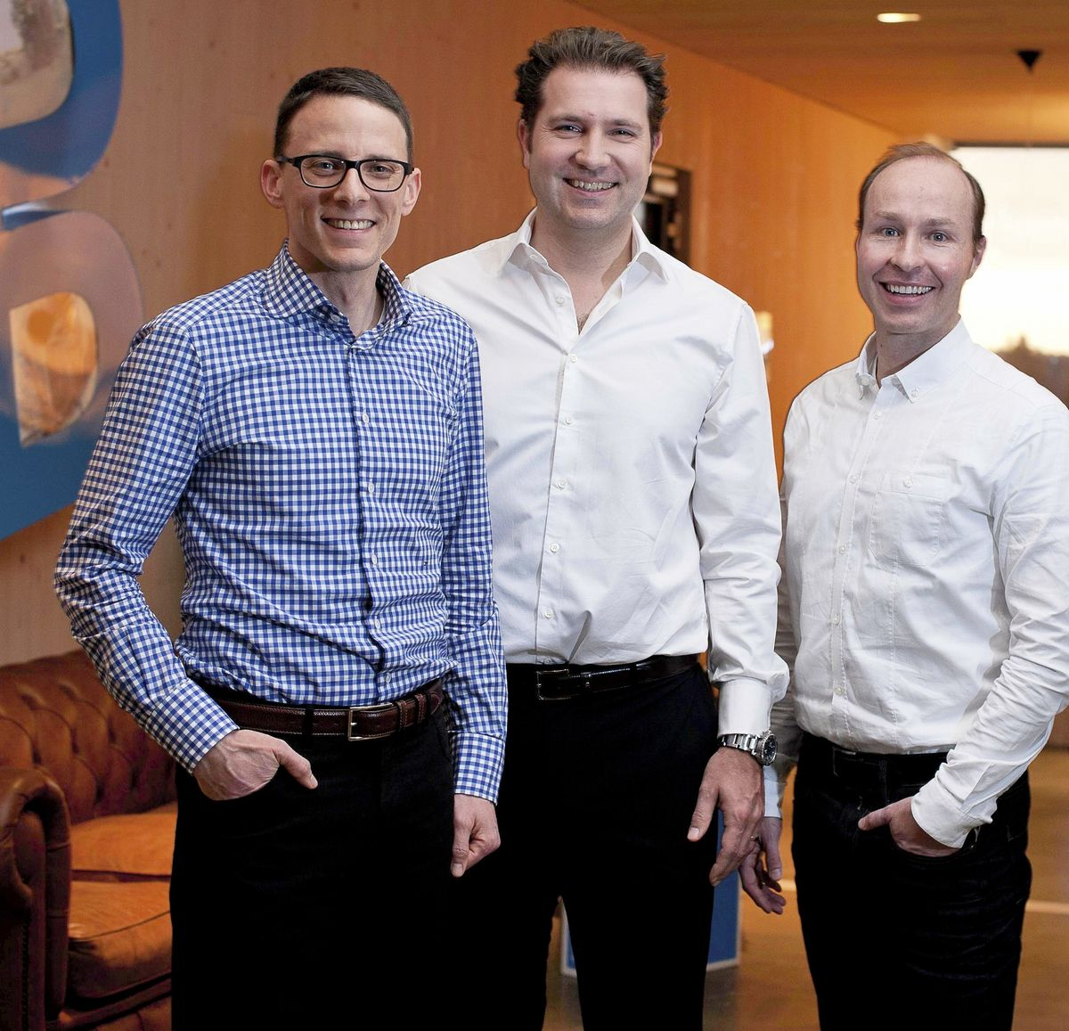 From left to right: J. Mayer (Chaiman), H. Schwarz (CFO and COO) and Michael Burk (CEO).