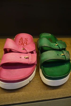 A.S.98. nurse sandals with striking colors