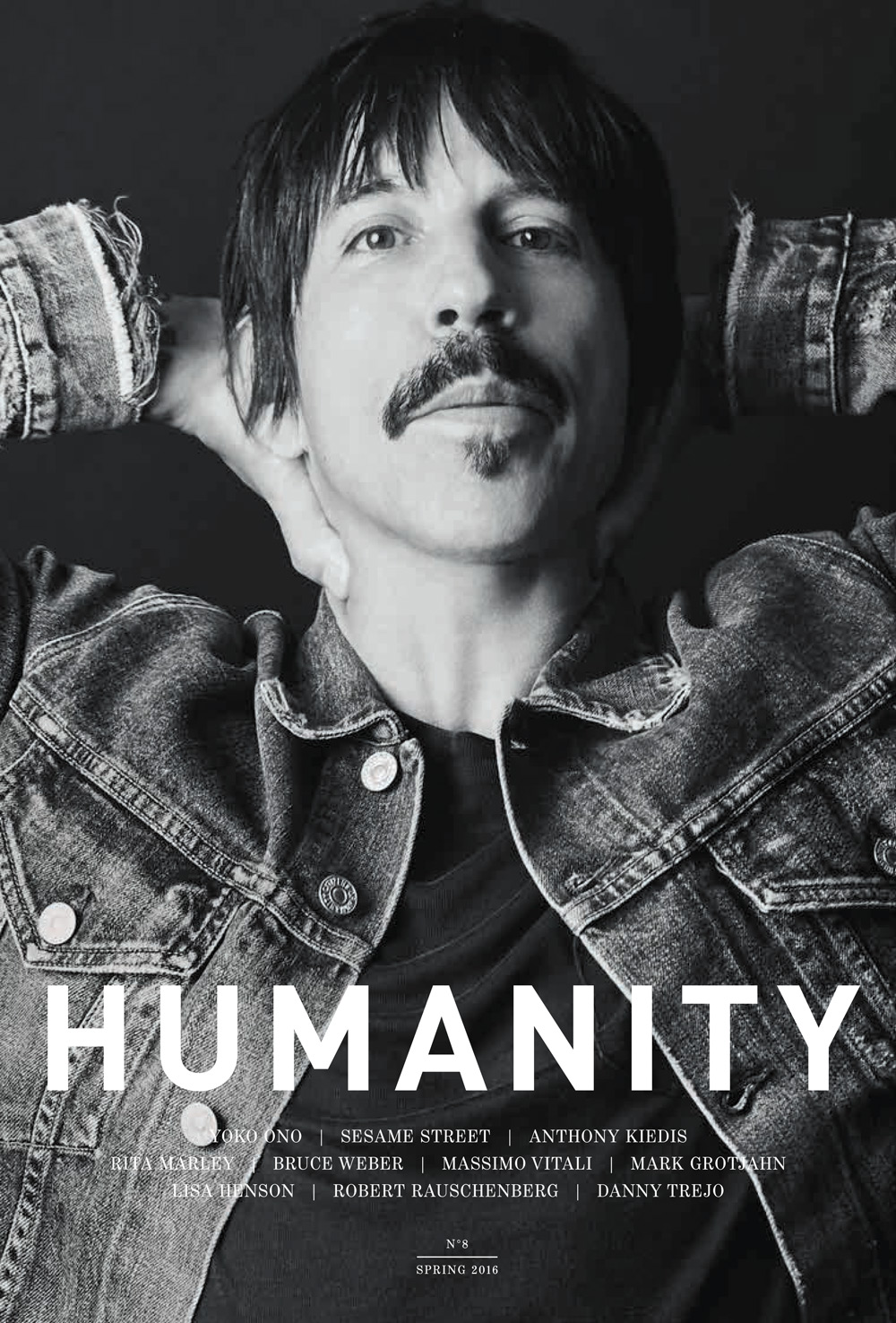 Anthony Kiedis on the cover of Humanity No.8, photo: Scott Lipps