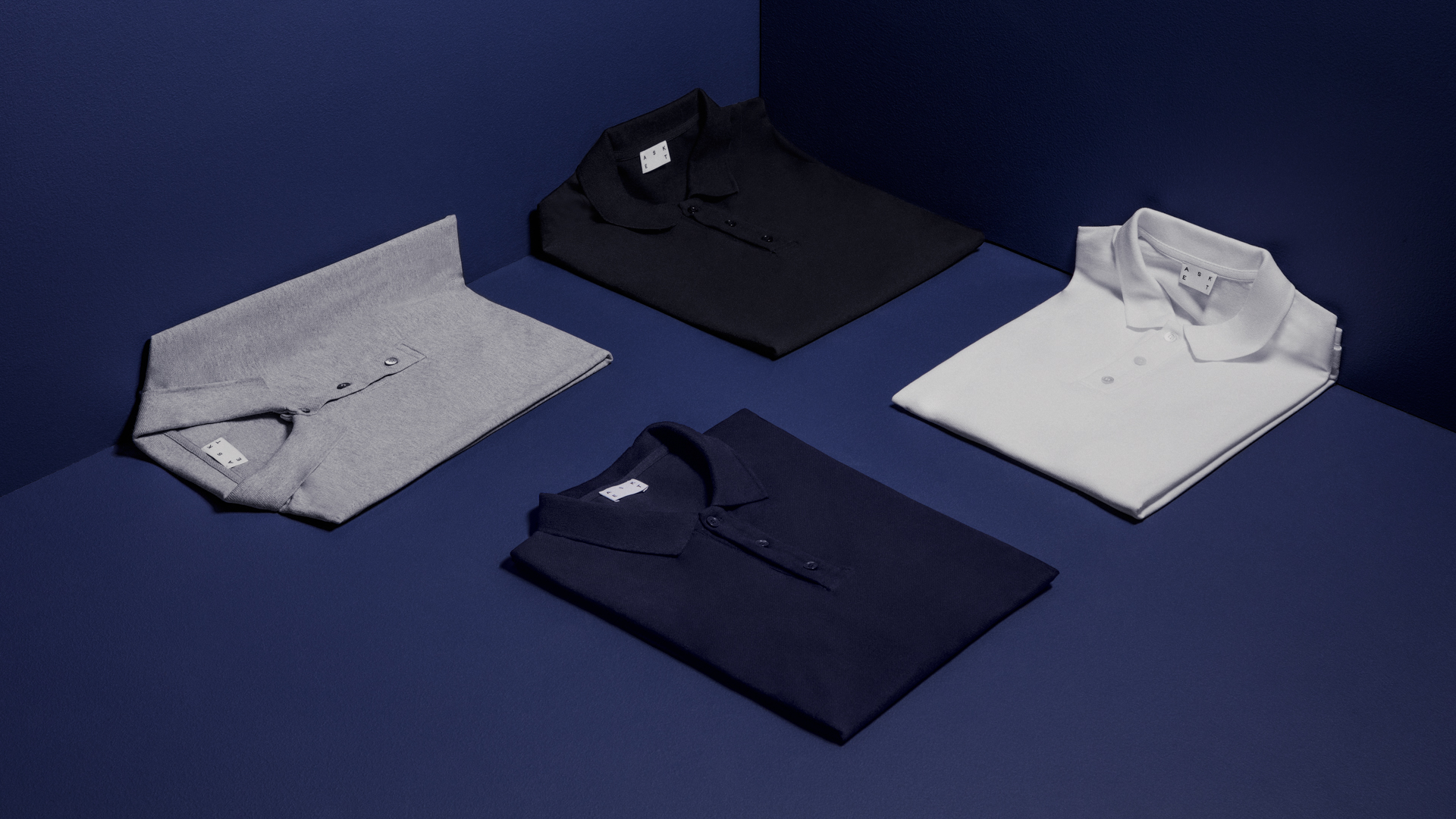 Asket has just introduced polo shirts to its range of men's basics.