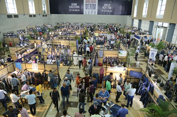 Image of the former edition of the Bangladesh Denim Expo.