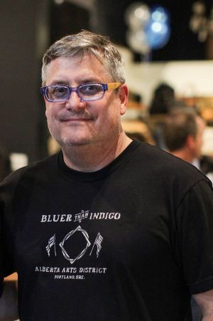 Bluer than Indigo owner and creative director Jeff Shafer