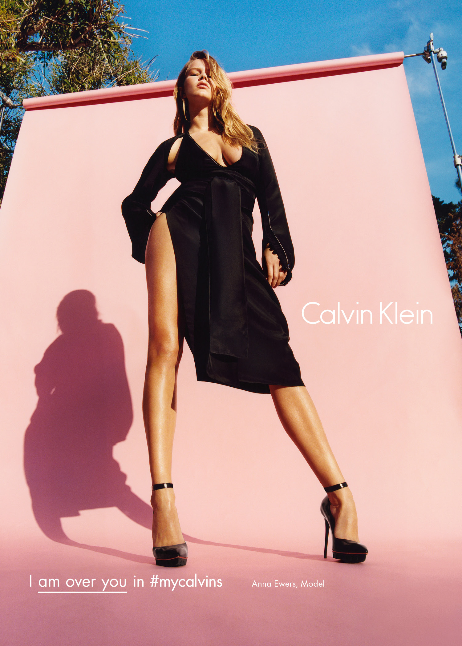 CK Fall 2016 campaign featuring model Anna Ewers.