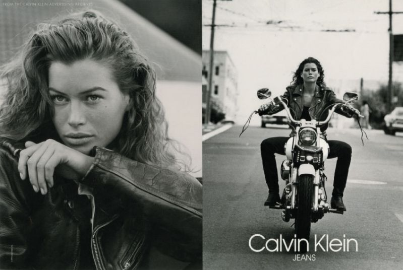 Calvin Klein Jeans advertising campaign with Carré Otis, launched in 1991.