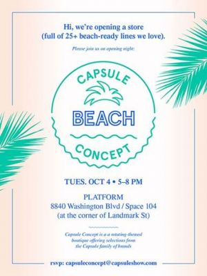 Capsule LA pop-up shop flyer