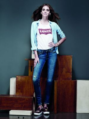 Chiara Ferragni for Levi's Lot700 range photographed by G. Gastel