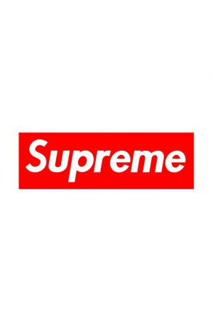 Classic minimalism: The signature Supreme logo