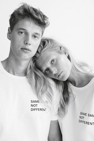 Niklas (left) and Toni Garrn, faces and designers behind the EQL collection.