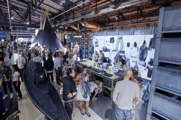 Customization and denim teepee at G-Star