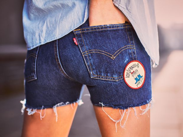 Cut-Off Jeans Shorts