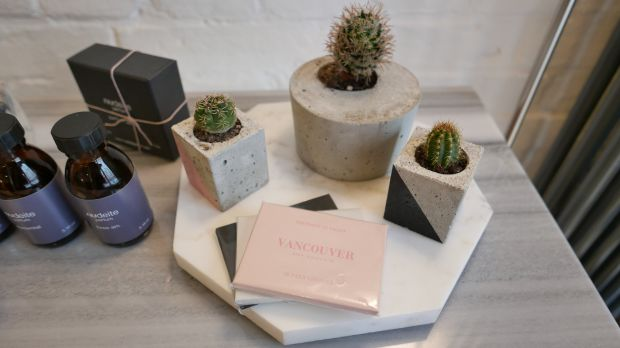 Daniela Rubino concrete planters at the pop-up