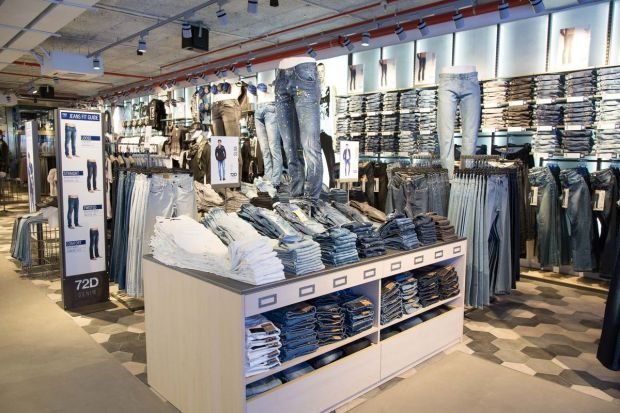 Denim area at OVS Corso Buenos Aires street in Milan