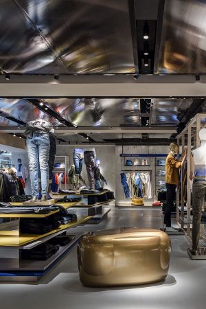 Denim-dedicated area at Harvey Nichols's new menswear destination in Knightsbridge (London)