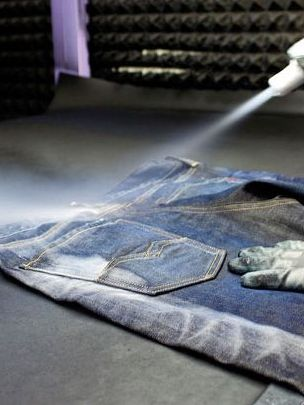 Denim garments treated by Martelli