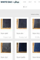 Denim samples in the White Oak web shop