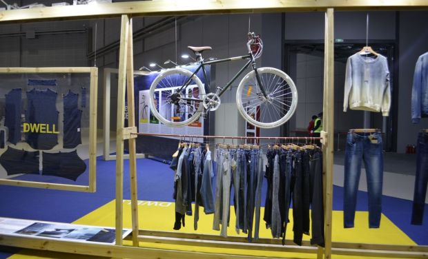 'Dwell' installation in the denim trend forum