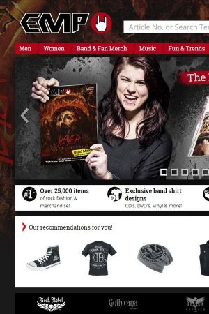 EMP Merchandising UK's homepage