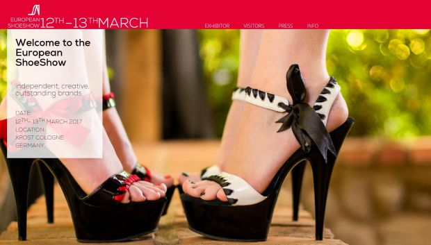 European Shoeshow homepage.