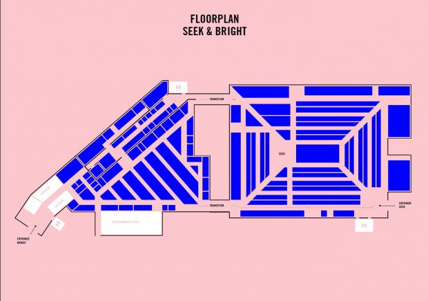 Connected floor plan of the sister shows Bright and Seek