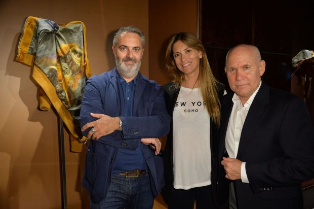 From left to right: Marco Tiburzi, Jennifer Tommasi Bardelle and Steve McCurry