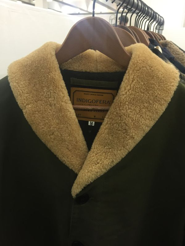 Furry collar at Indigofera Prima Jeans