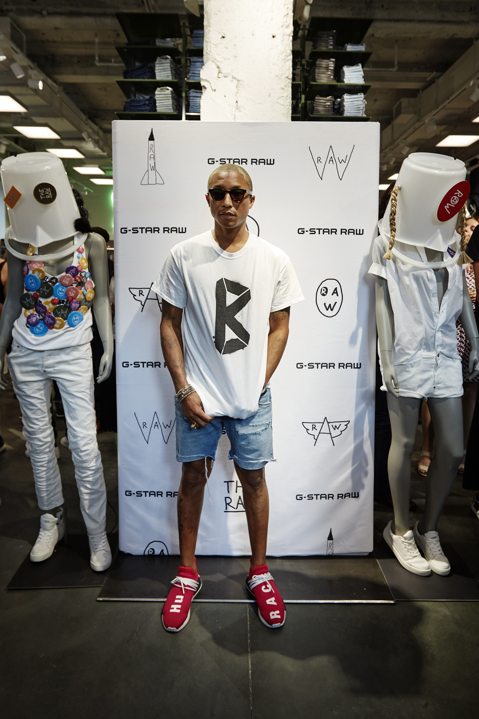 Pharrell Williams, G-Star co-owner and 'head of imagination'.
