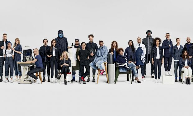 G-Star Raw employees pose for the fall/winter'16 campaign.