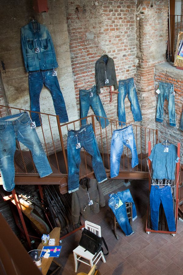 Garments treated by Martelli presented at Denim Boulevard in Milan