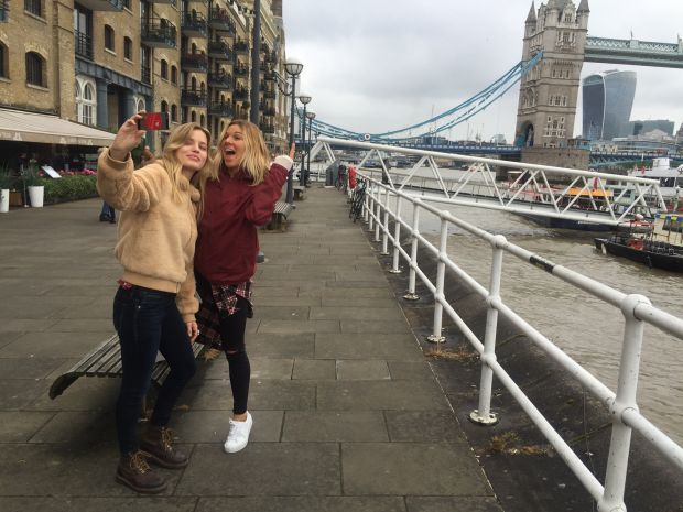 Georgia May Jagger together with surfer Coco Ho, recently in London for Volcom Women