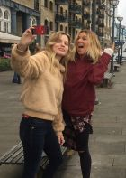 Georgia May Jagger and Coco Ho in London for Volcom Women