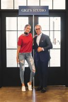 Gigi Hadid with Tommy Hilfiger