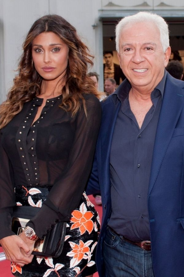 Guess President Paul Marciano and Belen Rodriguez, testimonial of the present s/s 2016 cam
