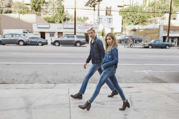 Hailey Baldwin and Lucky Blue Smith for Hilfiger Denim