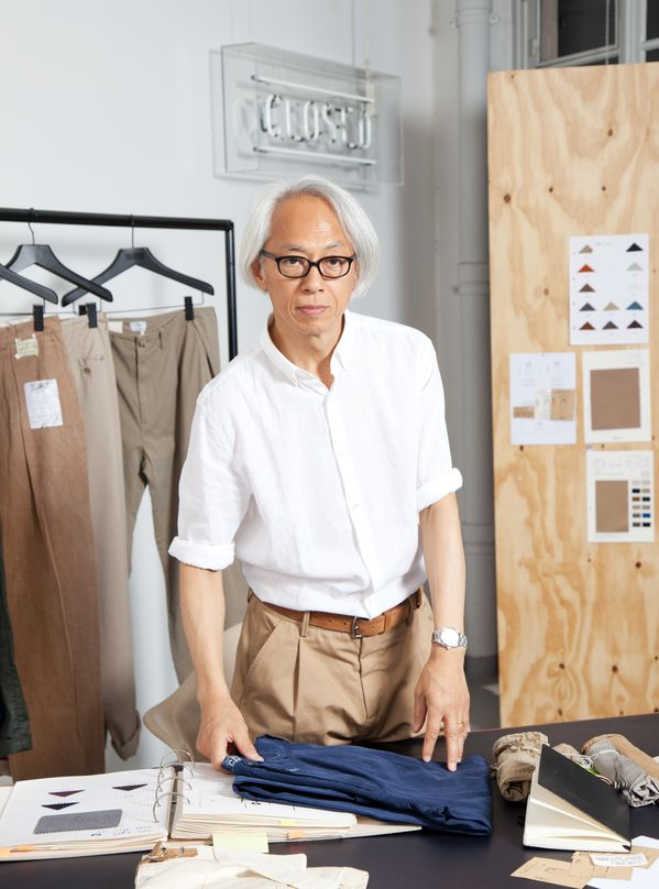 Hirofumi Kurino, co-founder United Arrows, working on the Closed collection