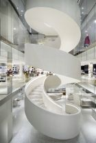 Impressive staircase in the new downtown Barneys (photo: Scott Frances)