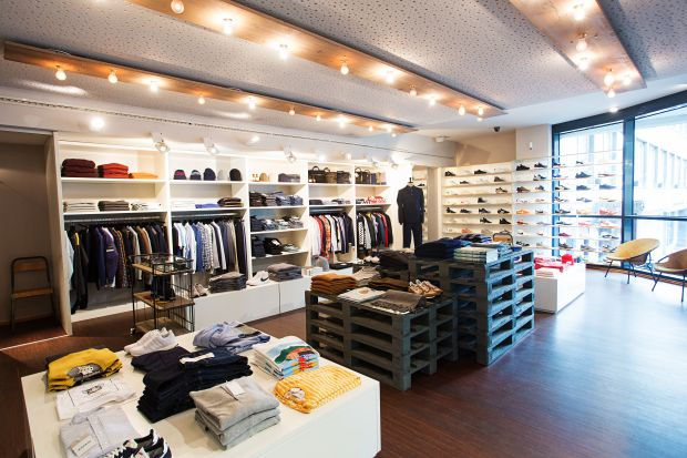 Inside the newly refurbished Uebervart store