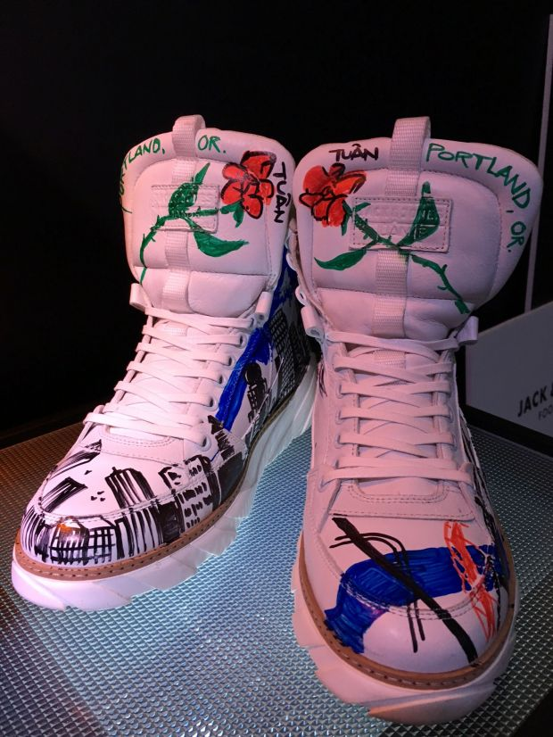 Customized sneakers by Tuan Le