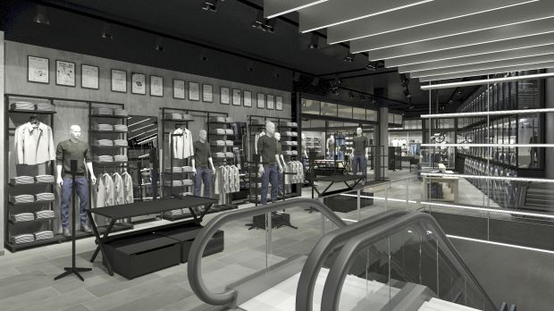 Rendering of Jack & Jones's refurbished Hamburg store
